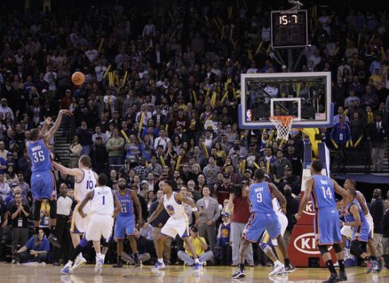Kevin Durant y su elegante tiro.