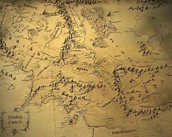El mapa de la Tierra Media no muestra lo feos que son los orcos.