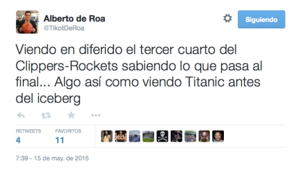 Clippers y Titanic. O sea.